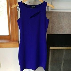 Purple keyhole bodycon dress
